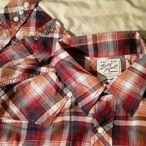 Men's western flannel